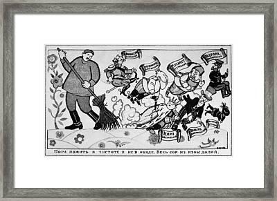 Bolshevik Poster Framed Print by Granger