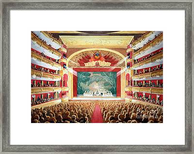 Framed Print featuring the painting Bolshoi Ballet by Lora Serra