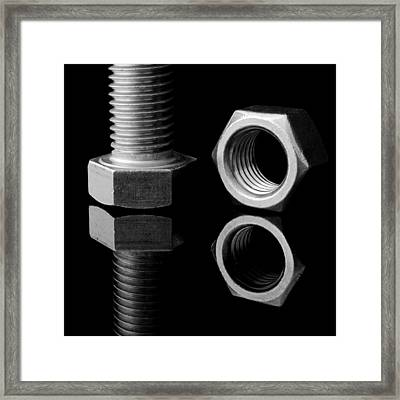 Bolt And Nut Framed Print by Jim Hughes