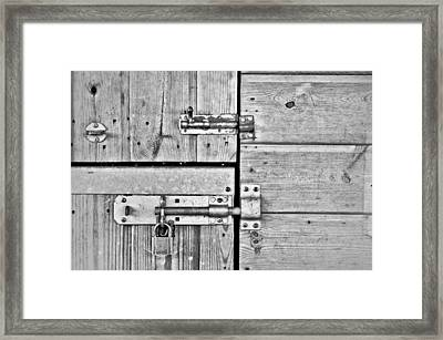 Bolts Framed Print by Tom Gowanlock