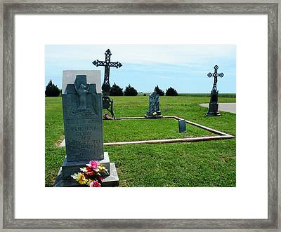 Bomarton Catholic Cemetery 7 Framed Print by The GYPSY And DEBBIE