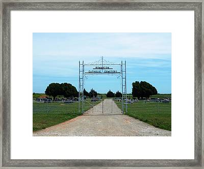 Bomarton Catholic Cemetery 1 Framed Print by The GYPSY And DEBBIE