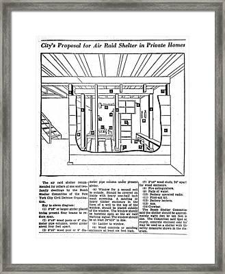 Bomb Shelter, C1955 Framed Print
