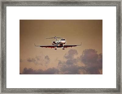 Bombardier Bd100 Framed Print by James David Phenicie