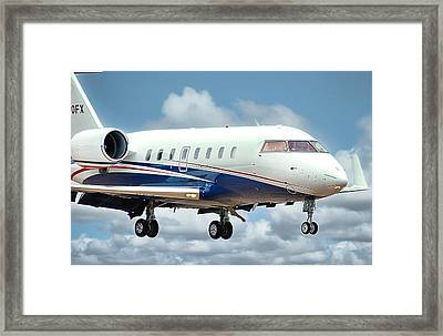 Bombardier Challenger Framed Print by James David Phenicie