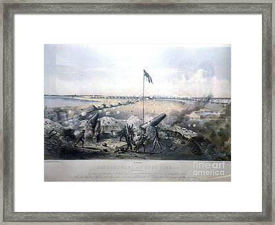 Bombardment Of Fort Fisher Framed Print by Celestial Images