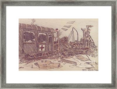Bombed Hospital Train Ww II Framed Print
