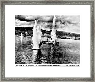 Bomber Attack Framed Print by Unknown