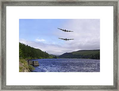 Bombers At The Dam  Framed Print