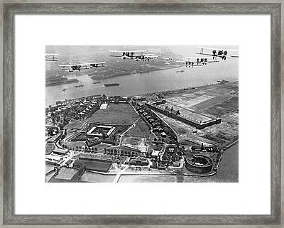 Bombers Over Governors Island Framed Print
