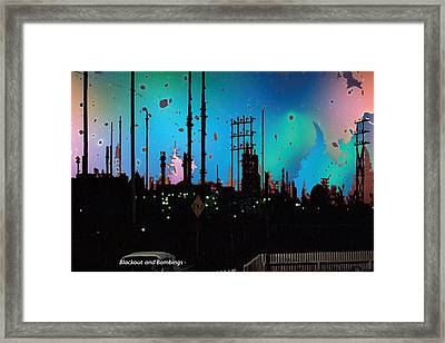 Bombings And Blackouts  War Photo Of Asian Continent  Artist Believes The More People Get Killed By  Framed Print by Navin Joshi