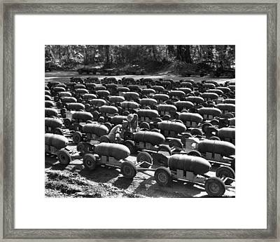 Bombs At Bougainville Island Framed Print