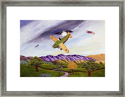 Framed Print featuring the painting Bombs Away by Susan Culver