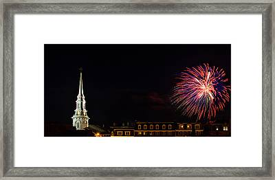 Bombs Bursting In Air Portsmouth Nh Framed Print by Jeff Sinon