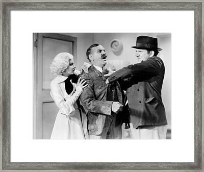 Bombshell, From Left, Jean Harlow Framed Print by Everett
