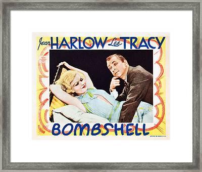 Bombshell, From Left Jean Harlow, Lee Framed Print by Everett