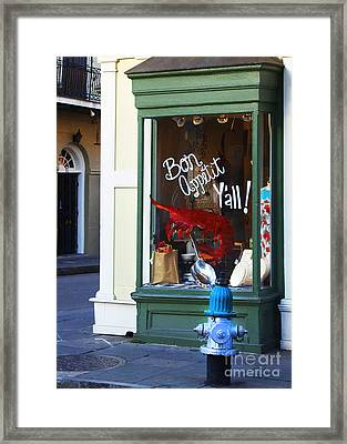 Bon Appetit Y'all Framed Print