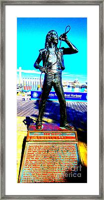 Bon Scott Ac Dc Singer Fremantle Framed Print by Roberto Gagliardi