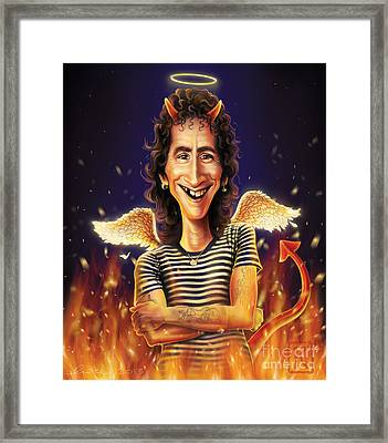Bon Scott Framed Print