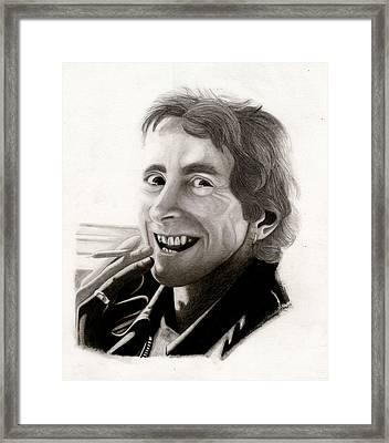 Bon Scott Framed Print by Kris Milo