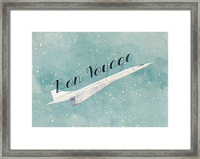 Bon Voyage Framed Print by Randoms Print
