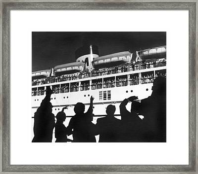 Bon Voyage Framed Print by Underwood Archives