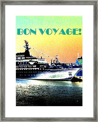 Bon Voyage Framed Print by Will Borden