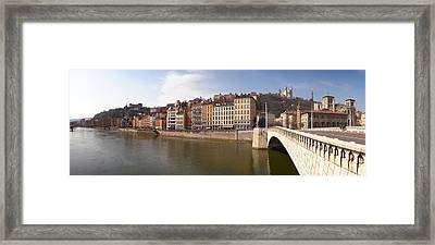 Bonaparte Bridge Over The Saone River Framed Print