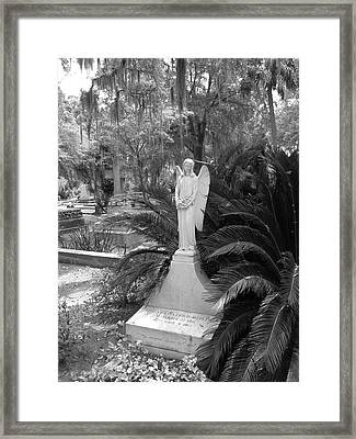 Framed Print featuring the photograph Bonaventure Angel by Victoria Lakes