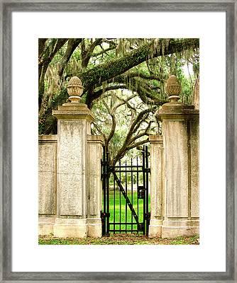 Bonaventure Cemetery Gate Savannah Ga Framed Print