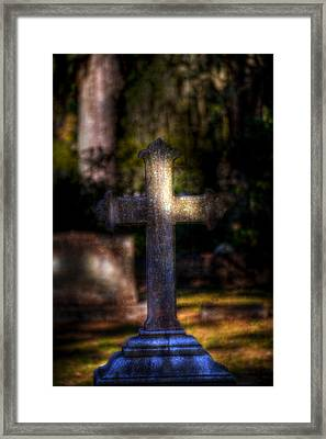Bonaventure Cross Framed Print by Mark Andrew Thomas