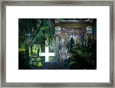 Bonaventure Memorials Framed Print by Mark Andrew Thomas