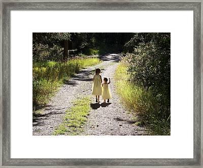 Bond Between Sisters Framed Print