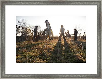 Bond Cowboys Framed Print