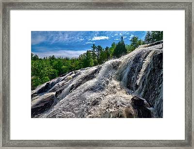 Framed Print featuring the photograph Bond Falls   by Lars Lentz