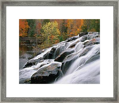 Bond Falls Upper Peninsula Michigan Framed Print