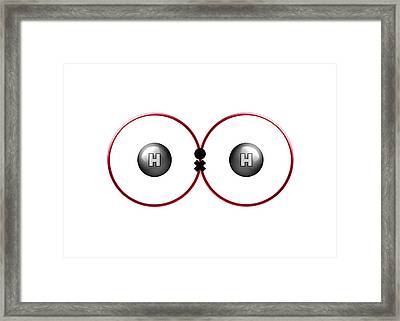 Bond Formation In Hydrogen Molecule Framed Print