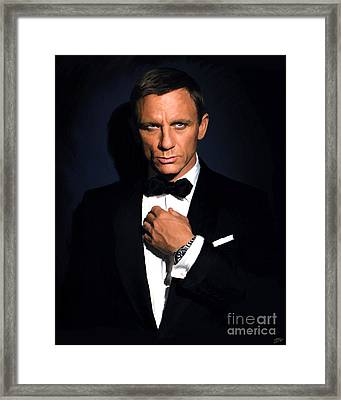 Bond - Portrait Framed Print by Paul Tagliamonte