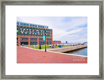 Bond Street Landing Baltimore Maryland Framed Print