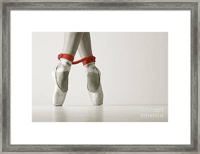 Bondage Ballet Red Rope Framed Print