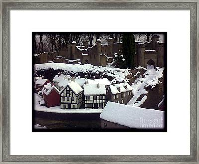 Bondville Model Village Framed Print by Merice Ewart