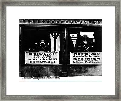 Bone Dry In June - Prohibition Sale Framed Print by Bill Cannon