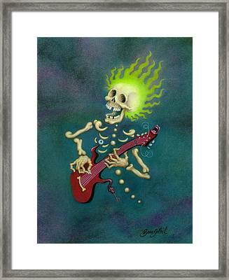 Bonehead Blues Framed Print