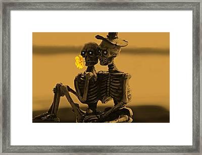 Bones In Love  Framed Print by David Dehner