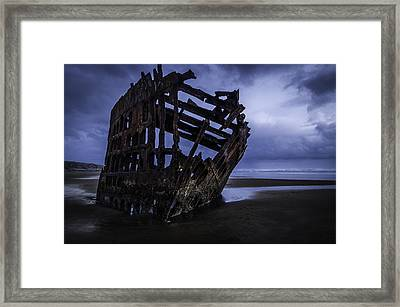 Bones Of The Peter Iredale Framed Print