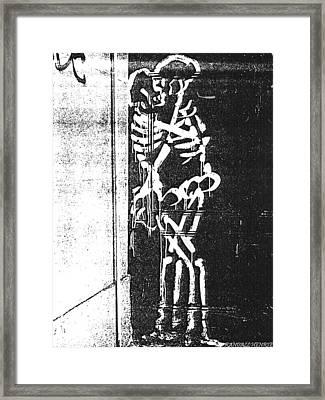 Framed Print featuring the digital art Bones by Randall Henrie