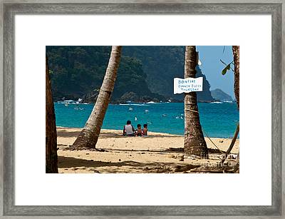 Bonfire Framed Print