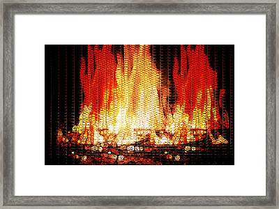 Bonfire Mosaic Framed Print by Dan Sproul