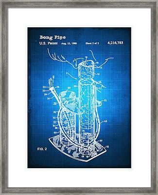 Bong Patent Blueprint Drawing Framed Print