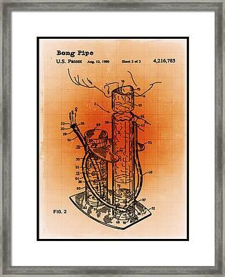 Bong Patent Blueprint Drawings Sepia Framed Print